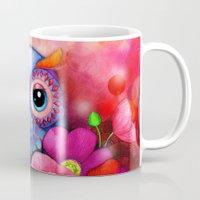 Owl In Poppy Field Mug