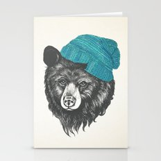 Zissou The Bear In Blue Stationery Cards
