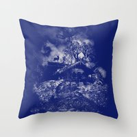 little house on the mount Throw Pillow