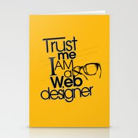 Trust Me I Am Web Design… Stationery Cards