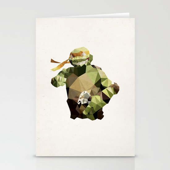 Polygon Heroes - Michelangelo Stationery Card