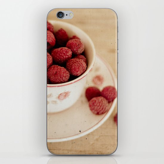 A Cup of Raspberries iPhone & iPod Skin