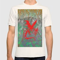 Phoenix Flame Mens Fitted Tee Natural SMALL