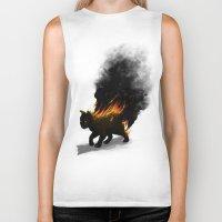 This Cat Is On Fire! Biker Tank