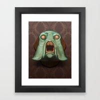 Swamp Alien Framed Art Print