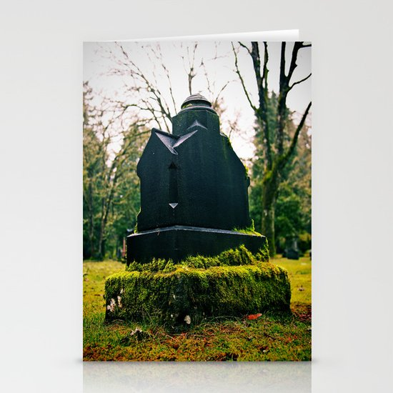 Graveyard green Stationery Card