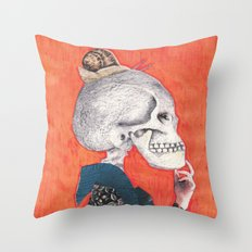What was the question?(Versión II) Throw Pillow