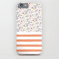 Flowers & Stripes iPhone 6 Slim Case