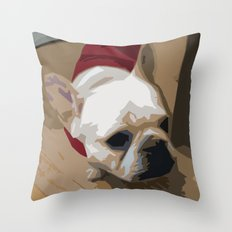 Sweet George a French Bulldog Throw Pillow