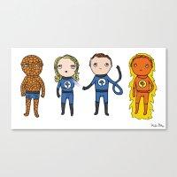 Super Cute Heroes: Fanta… Canvas Print