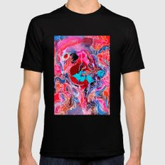 Tiny Cosmic Event Mens Fitted Tee Black SMALL