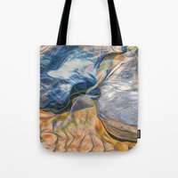 Abstract beautiful rocks on the sand Tote Bag