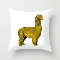 Huacaya Alpaca Throw Pillow