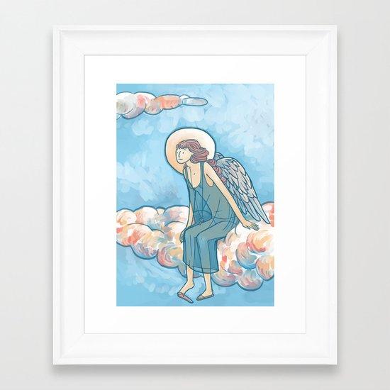 Angel on a Cloud Framed Art Print