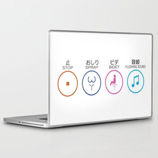 Japanese Toilets Laptop & iPad Skin