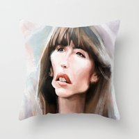 Sophie Marceau Throw Pillow