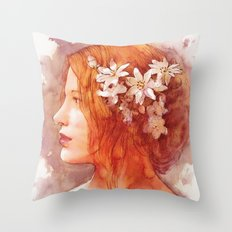 Flower scent Throw Pillow