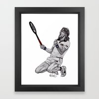 Tennis Borg Framed Art Print