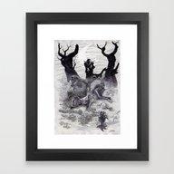 Vampires & Zombies Framed Art Print
