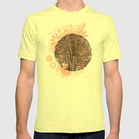 Tree Mens Fitted Tee Lemon SMALL