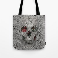 Lace Skull 2 Tote Bag