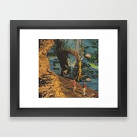 They that go down to the sea in ships... Framed Art Print