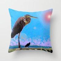 Big Bird, Little Bird Throw Pillow