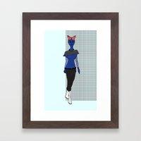 Galactic Street Queen; Martian Babe Framed Art Print