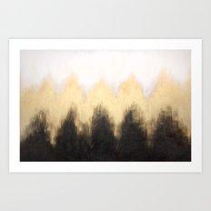 Metallic Abstract Art Print