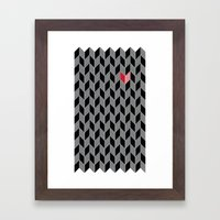 Heart Pattern Framed Art Print