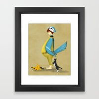 Blue Chickadee Framed Art Print