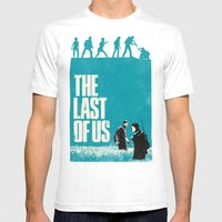 The Last Of Us Mens Fitted Tee White SMALL