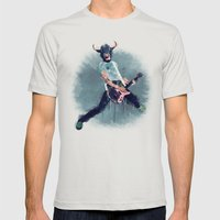 Punks not dead Mens Fitted Tee Silver SMALL