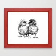 Baby Chicks - Little Kiss G133 Framed Art Print