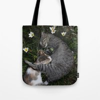 Sleep [A CAT AND A KITTEN] Tote Bag