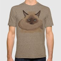 Winter Cat Mens Fitted Tee Tri-Coffee SMALL