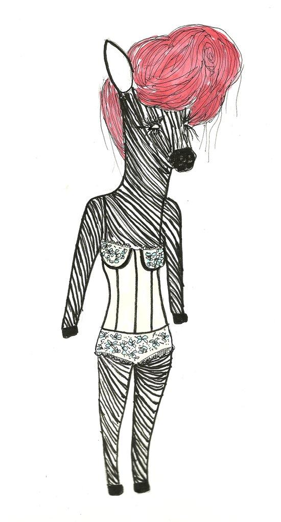 Sexy Zebra Canvas Print