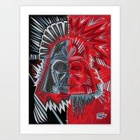 Deconstruct Vader Art Print
