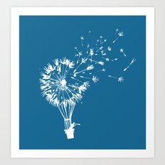 Going where the wind blows Art Print