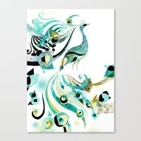 Lone Peacock Canvas Print