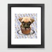 pupcake Framed Art Print