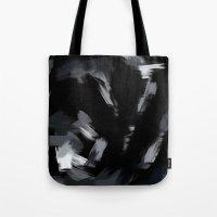 BLOSSOMS - BLACK Tote Bag