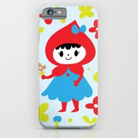 iPhone & iPod Case featuring Red Riding Hood in the Forest by Laura Gómez