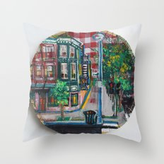 The Corner Of Market And Main  Throw Pillow
