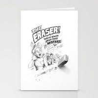 The Eraser Stationery Cards