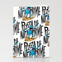 Pizza Is Not A Crime Stationery Cards