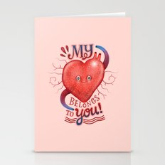 My heart Belongs to You! Stationery Cards
