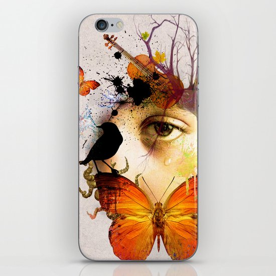 fluttery abstract   iPhone & iPod Skin