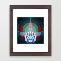 Red leader standing by Framed Art Print