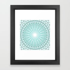 Mint Mandala Framed Art Print